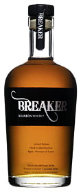Created in the golden hills of California's Central Coast, award-winning, luscious Breaker is a bona fide small batch bourbon that is born from only eight carefully chosen barrels of whiskey.